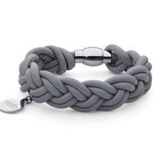 Qudo bracelet Italian Napa leather stainless steel jewellery